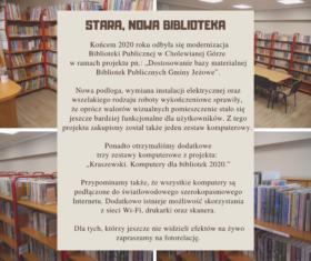 Stara, nowa biblioteka